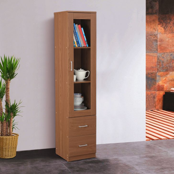 Finn Engineered Wood Multipurpose Cabinet in Walnut Colour by HomeTown