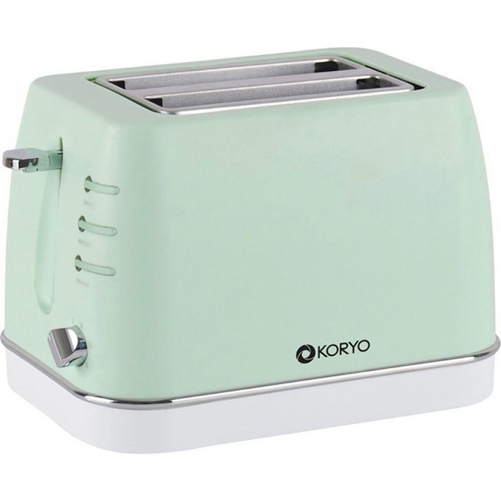 2 Slice Pop-Up Toaster (750 W) - Green by Koryo