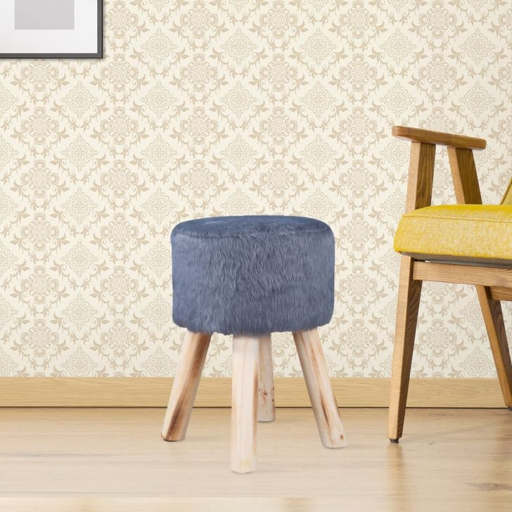 Danica Fabric Ottoman in Grey Color by HomeTown