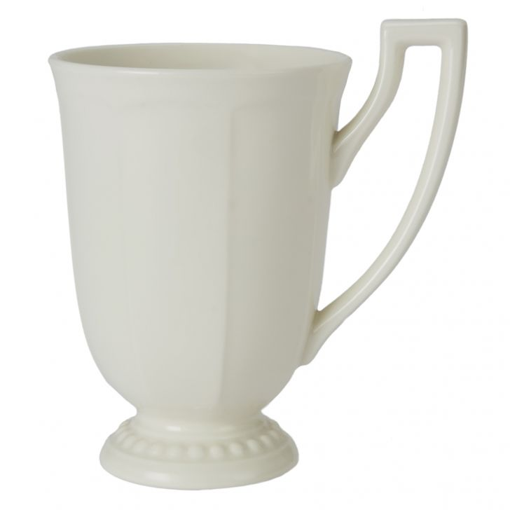 Florence Coffee Mug 260 Ml Ceramic Coffee Mugs in White With Gold Line Colour by Living Essence
