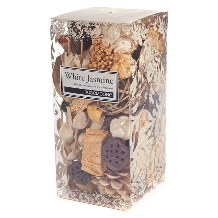 Rosemoore Box Scented Potpourri White Jasmine White Jasmine Home Fragrances in White Colour by Rosemoore