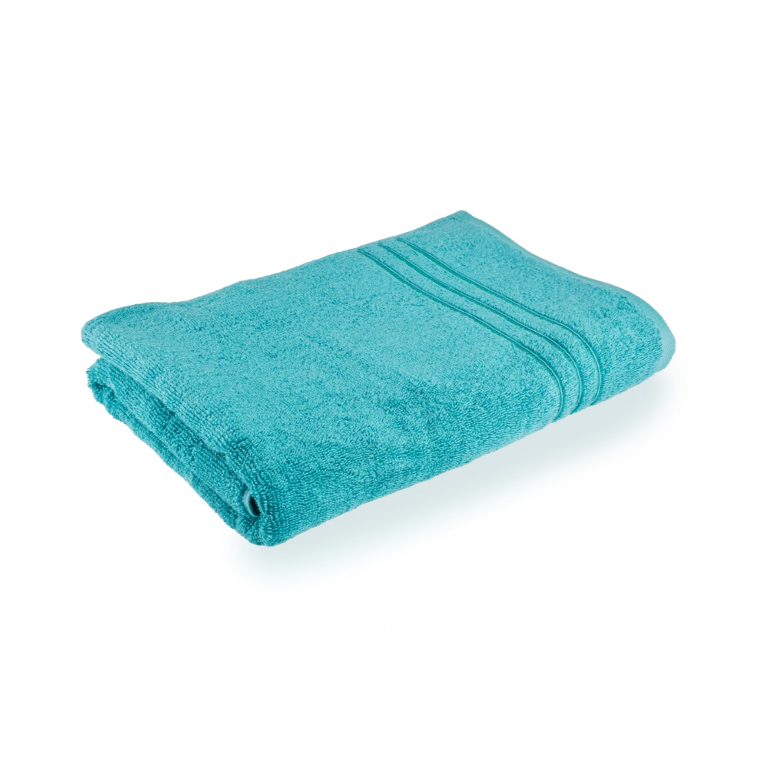 Bath Towel 70X140 Nora Turq Combed Cotton Bath Towels in Turquoise Colour by Living Essence