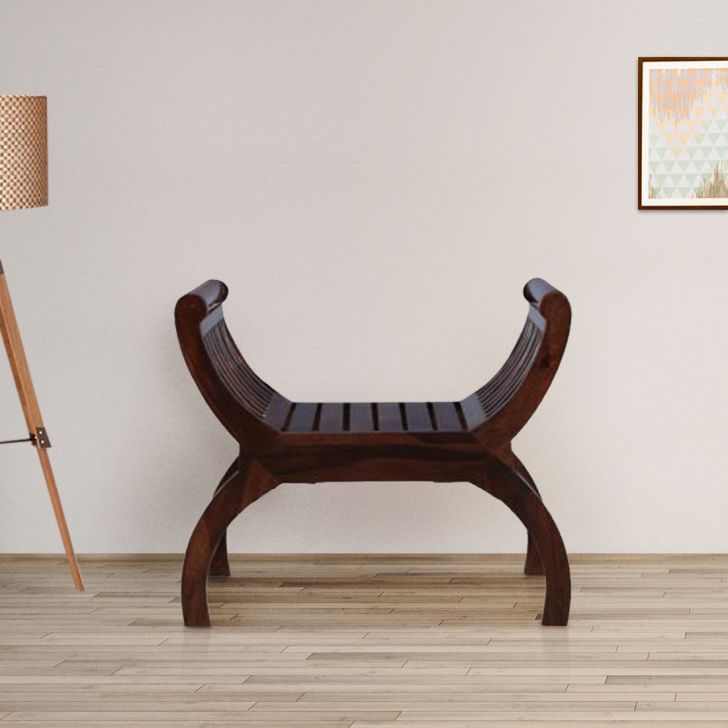 Bench Sheesham Wood(Rosewood) Bench in Walnut Colour by HomeTown