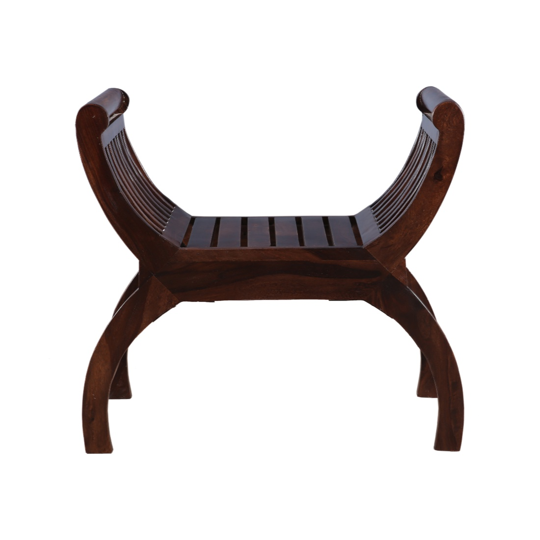 Bench Rubber Wood Bench in Walnut Colour by HomeTown