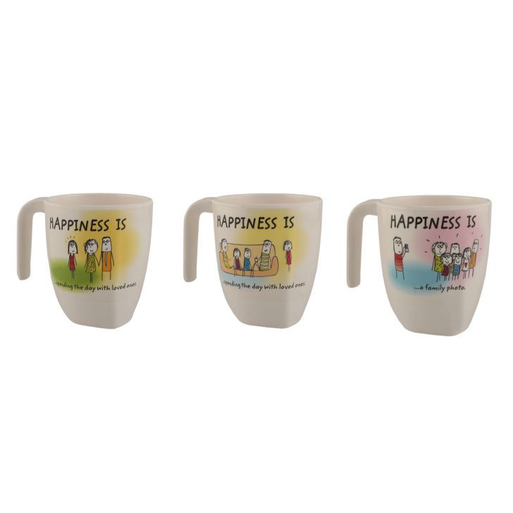 Happiness Symphony  Rad Assrt Food Grade Melamine Mugs in Multicolor Colour by Servewell