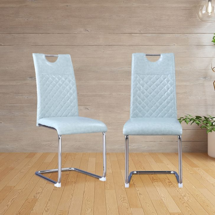 Garfield PVC Dining Chair Set of Six in Sage Colour by HomeTown