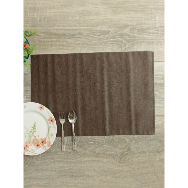 Set of 6 Pvc Table Mats in Mocha Colour by Living Essence