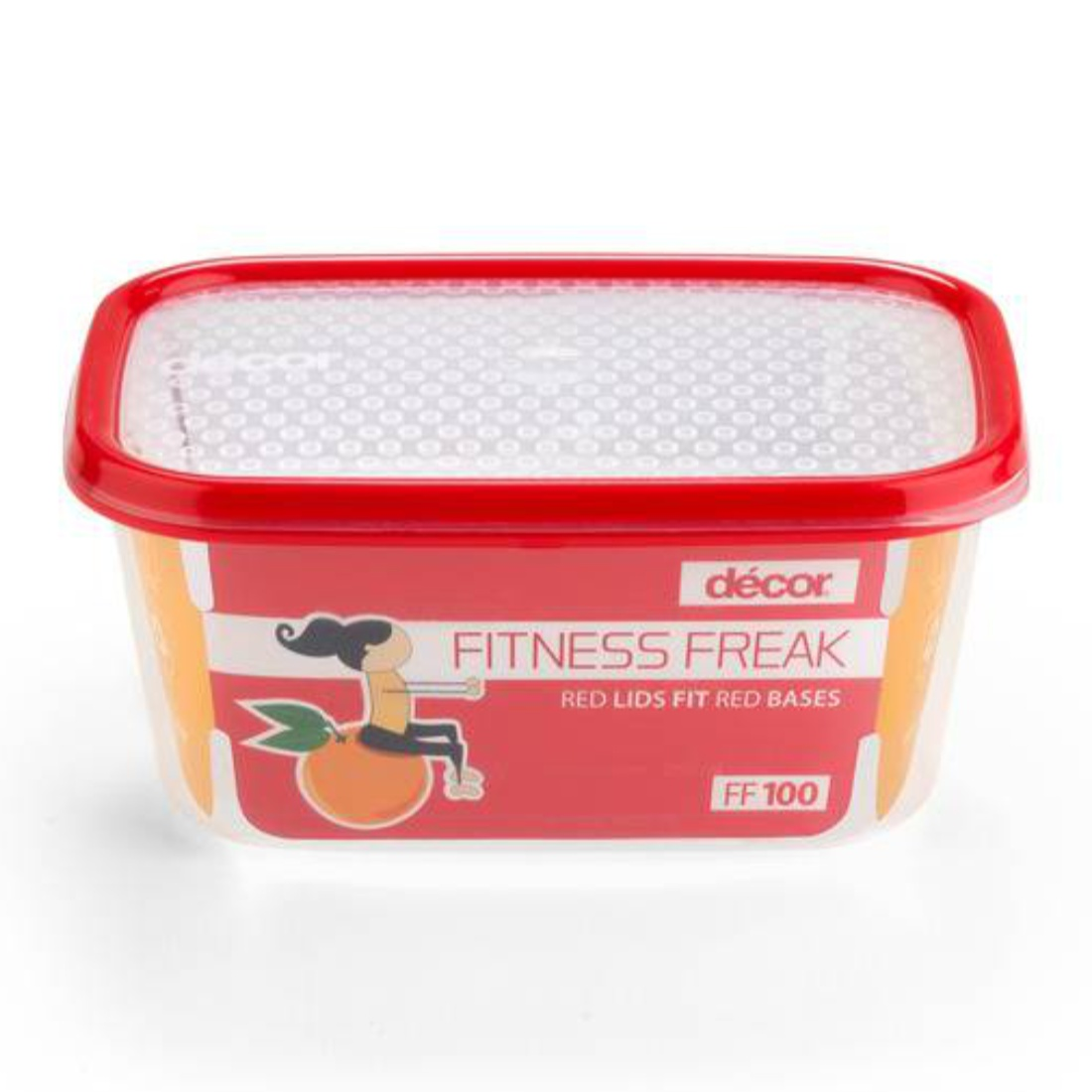 Fitness Freak 80 1L Glass Containers by Decor