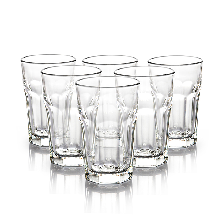 Libbey Dover Tumbler 230 ml 6 Pc Glass Bar Glassware in Transparent Colour by Libbey