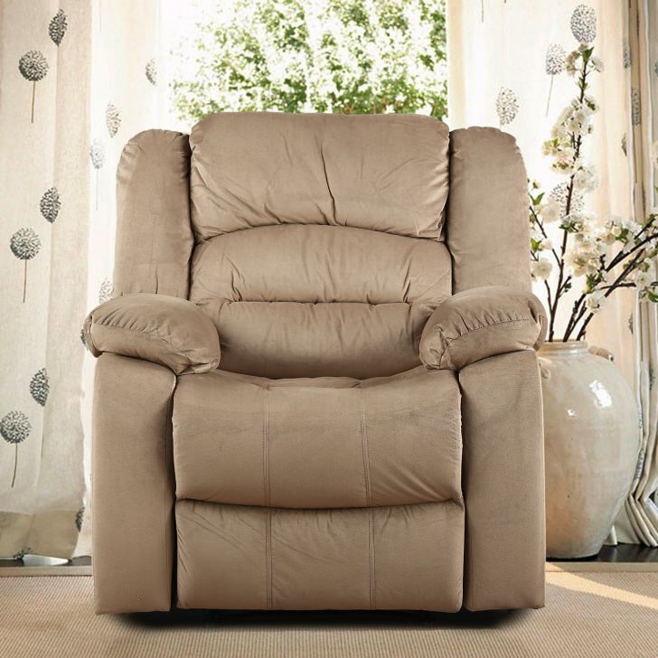 Bradford Fabric Single Seater Recliner in Camel Colour by HomeTown