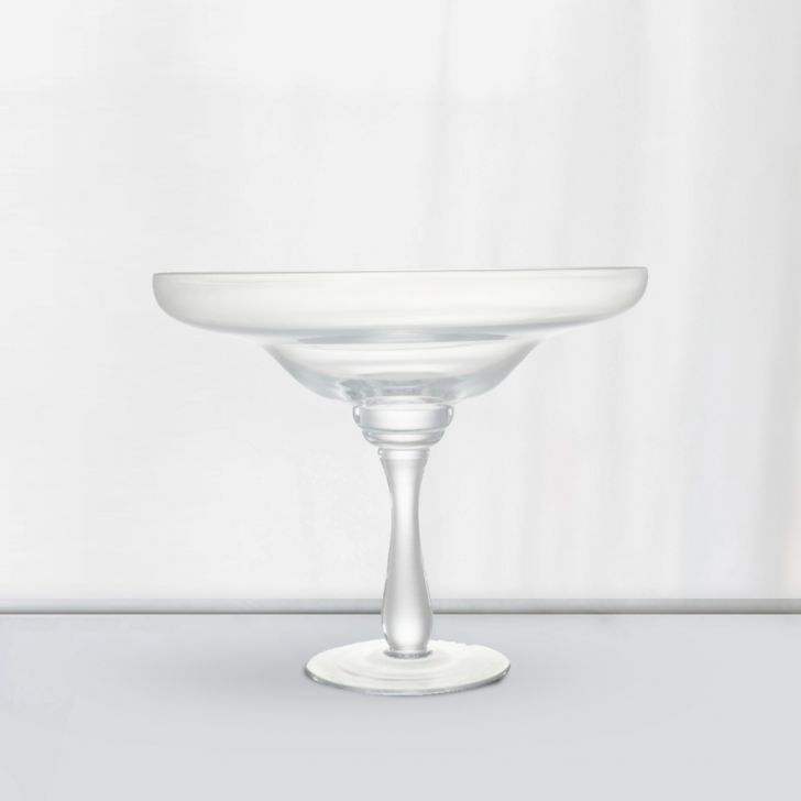Nile Floating Clear Vase 28 Cm Glass Vases in CLEAR Colour by Living Essence
