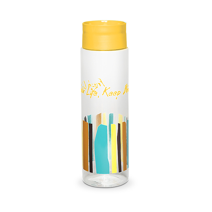 Water 1050 ml Hard Plastic Bottle in Mustard Colour by Living Essence