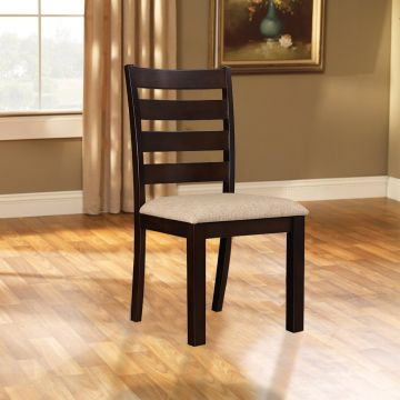 Bahubali Rubber Wood Dining Chair Set Of Two In Walnut Colour By Hometown