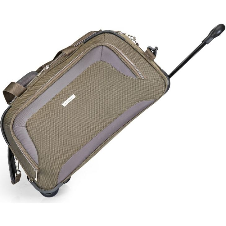 Crysta 57 cm Polyester Duffle on Wheel in Green Colour by Aristocrat