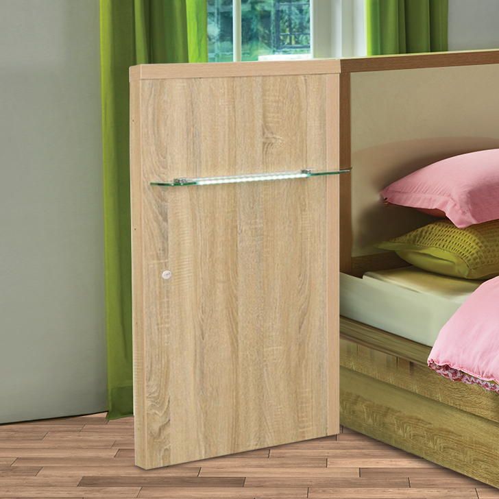Geo Engineered Wood Bedside Table in Vermount Colour by HomeTown