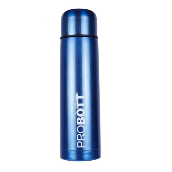 Probott Vacuum Flask 1000 Ml Assorted With Sling Cover Stainless steel Thermoware in Blue / Green / Black / Red Colour by Probott