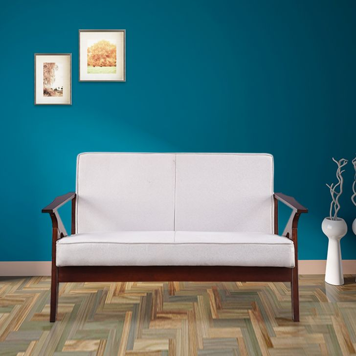 Patrick Solid Wood Two Seater Sofa in Grey Colour by HomeTown