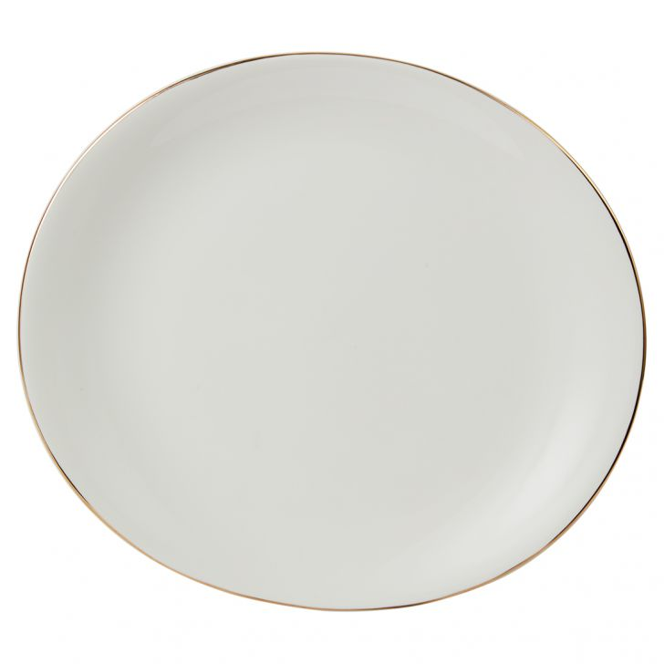 Sense Dinner Plate 27 Cm Ceramic Plates in White Colour by Living Essence