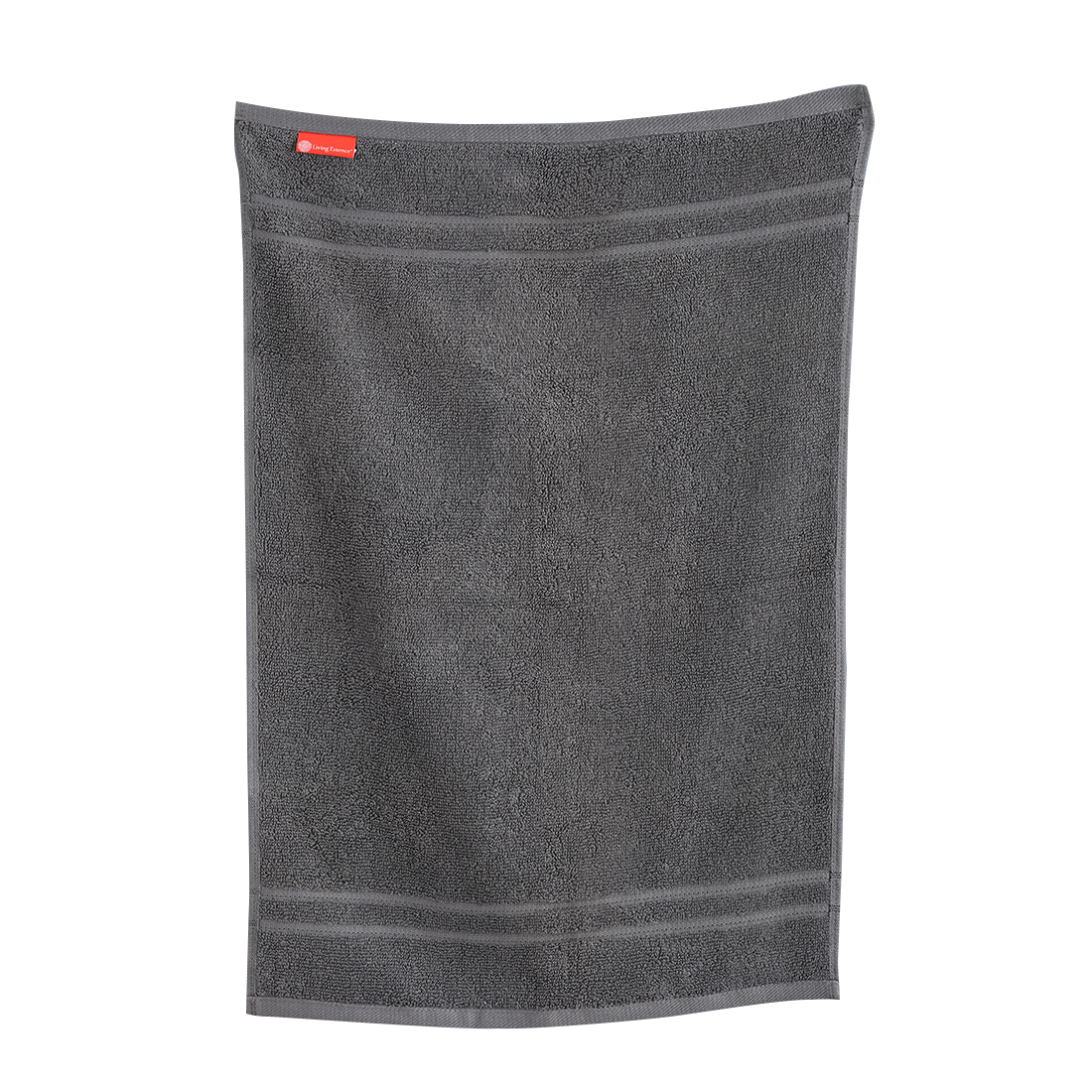 Hand Towel 40X60 Nora Grey Combed Cotton Hand Towels in Grey Colour by Living Essence