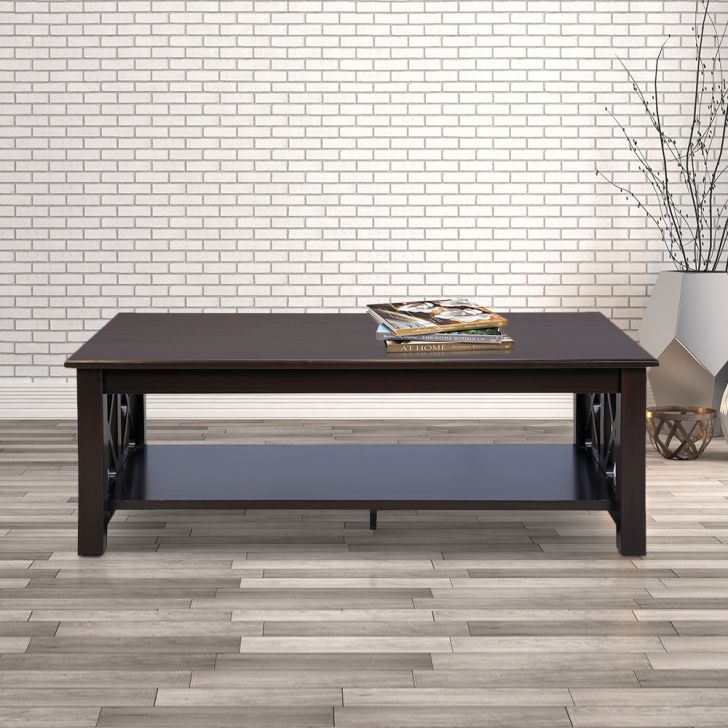 Ferlin Engineered Wood Center Table in Walnut Colour by HomeTown