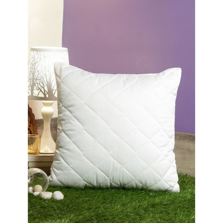 Stylo Quilted Polyester Cushion Fillers in White Colour by Living Essence