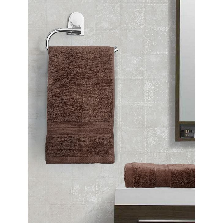Paradiso Cotton Set Of 2 Hand Towel 40X60 Cm 500 Gsm in Chocolate Colour