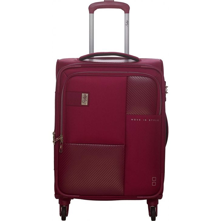 Cardinal 81 cm Polyester Soft Trolley in Maroon Colour by SKYBAGS