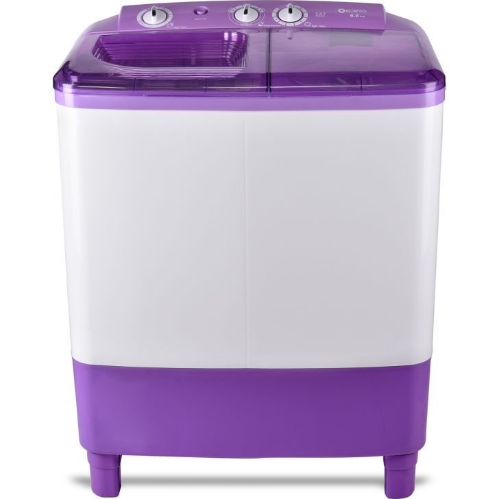 Koryo KWM7018SA 6.8KG Semi Automatic Washing Machine in Purple, White Colour by Koryo