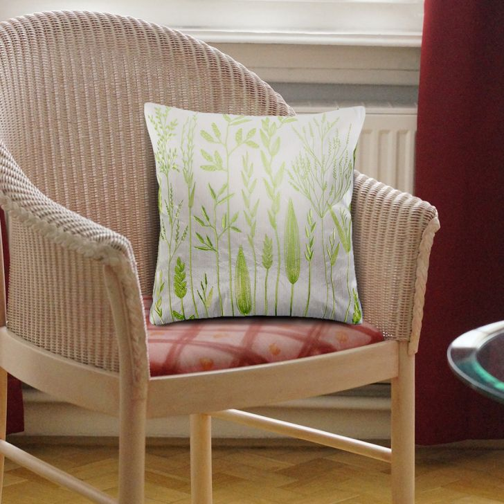 Botanique Velvet Cushion Covers in Green Colour by Living Essence