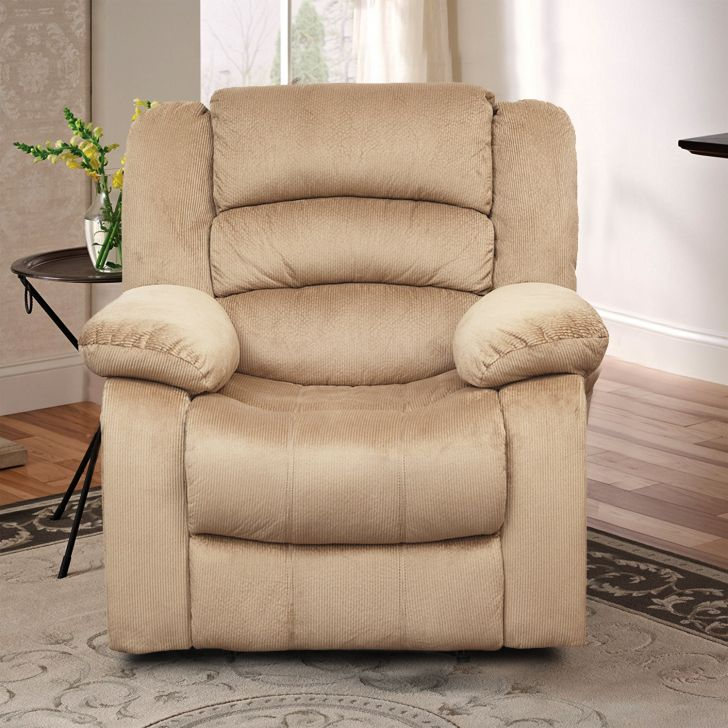 Cove Fabric Single Seater Recliner  in Mocha colour by HomeTown