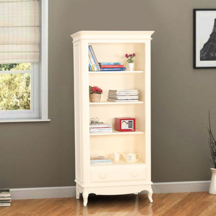 Provencale Solid Wood Book Shelf in Ivory Colour by HomeTown