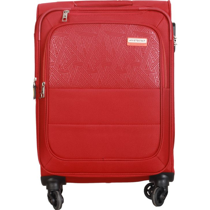 Aristocrat Sorento 4W Expandable Strolly 58 cm Soft Trolley (Red)