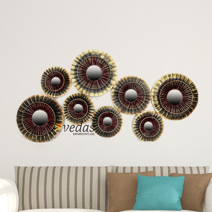 Veda Wall Panel Iron Large Wall Accents in Multicolor Colour by Royce