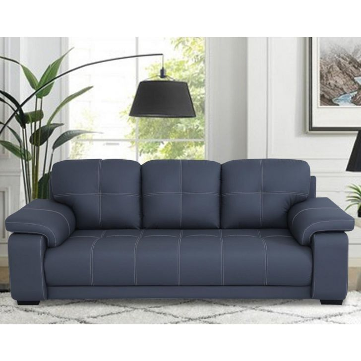 Albury Solid Wood Three Seater Sofa in Grey Colour by HomeTown