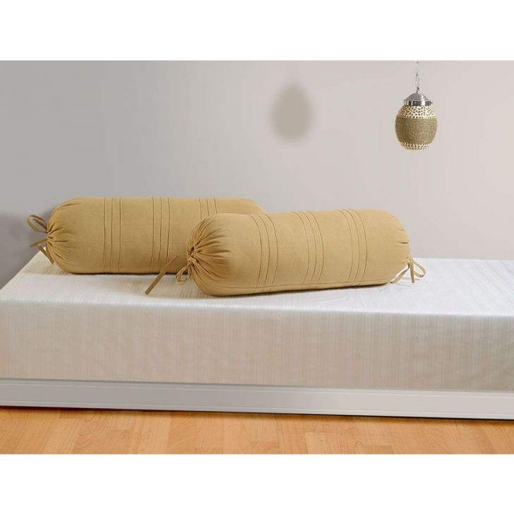Solid Bolster Cover In Fawn Color By Swayam