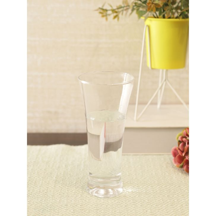 Pilsner Glass Beer Tumbler 340ml in Transparent Colour by Living Essence
