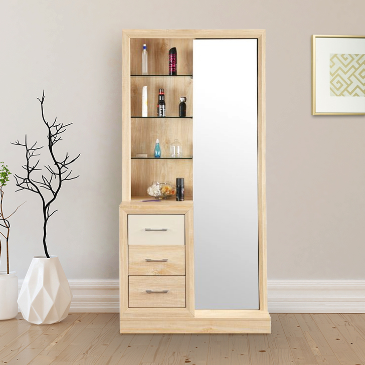Galileo Engineered Wood Dressing Table in Beige Colour by HomeTown