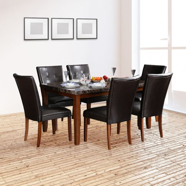 Eden Solid Wood Six Seater Dining Set in Walnut Colour by HomeTown