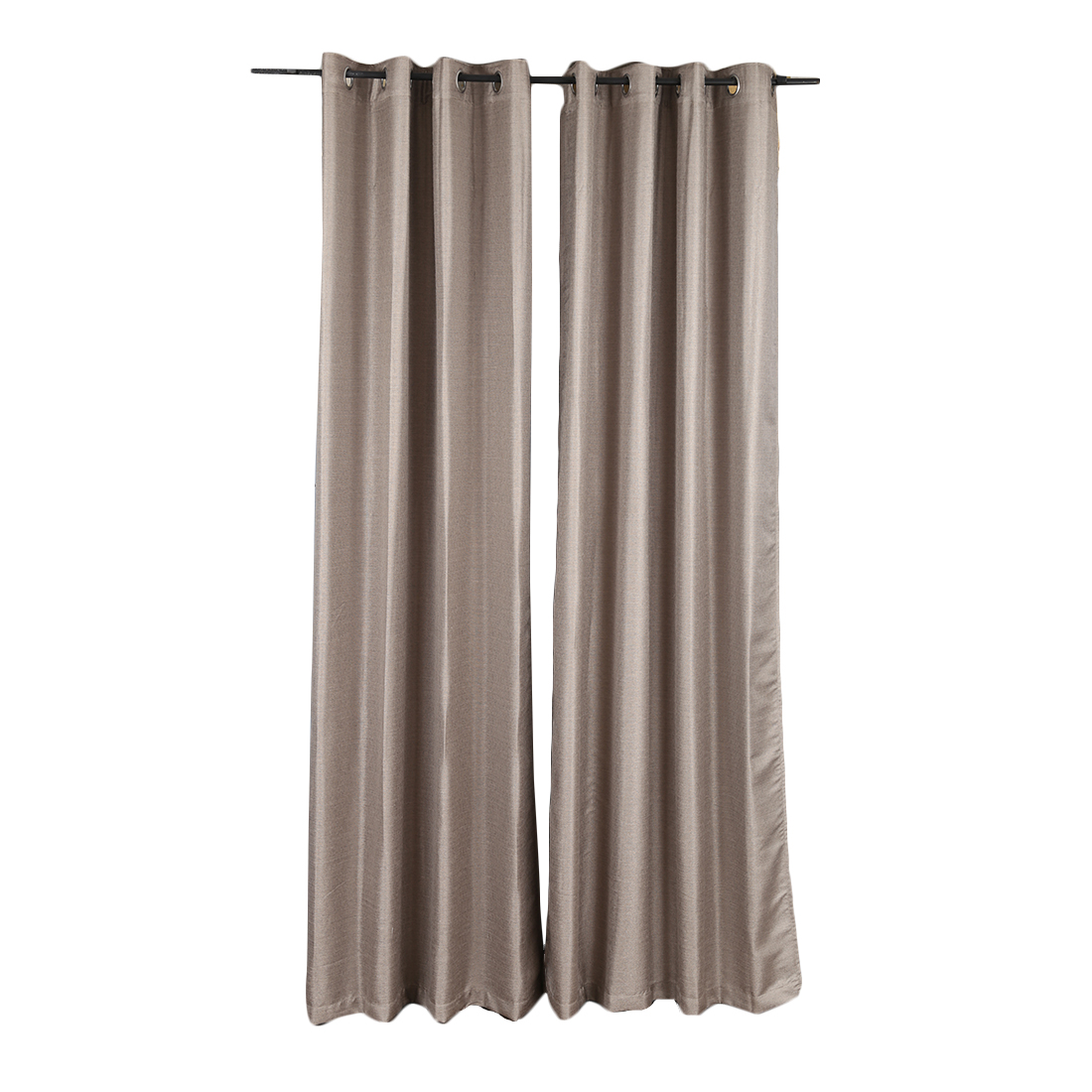 Textura Extra Large Curtain Grey Set of 2 Polyester Door Curtains in Grey Colour by Living Essence