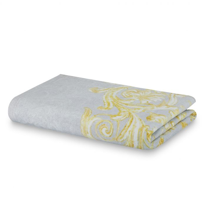 Spaces Atrium Cotton Double Bed Sheets in Grey Colour by Spaces
