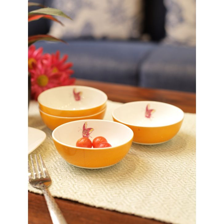 Laura Ashley Floral Heritage Ceramic Veg Bowl Set of 4 in Multicolor Colour by Laura Ashley