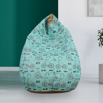 Awe Inspiring Living Essence Leatherette Xxl Bean Bag Without Beans In Multicolour Colour By Hometown Pabps2019 Chair Design Images Pabps2019Com