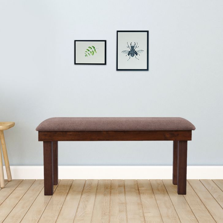 Hopton Solid Wood Four Seater Bench in Brown Colour by HomeTown