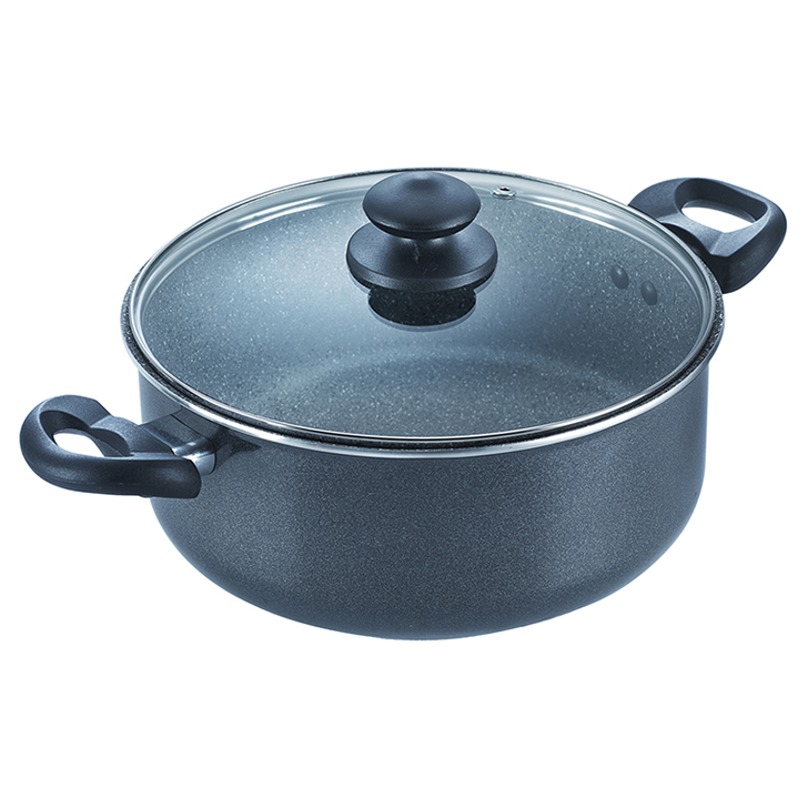 Prestige Omega Deluxe 24 cm NonStick Sauce Pan Aluminium Sauce Pans in Grey Colour by Prestige