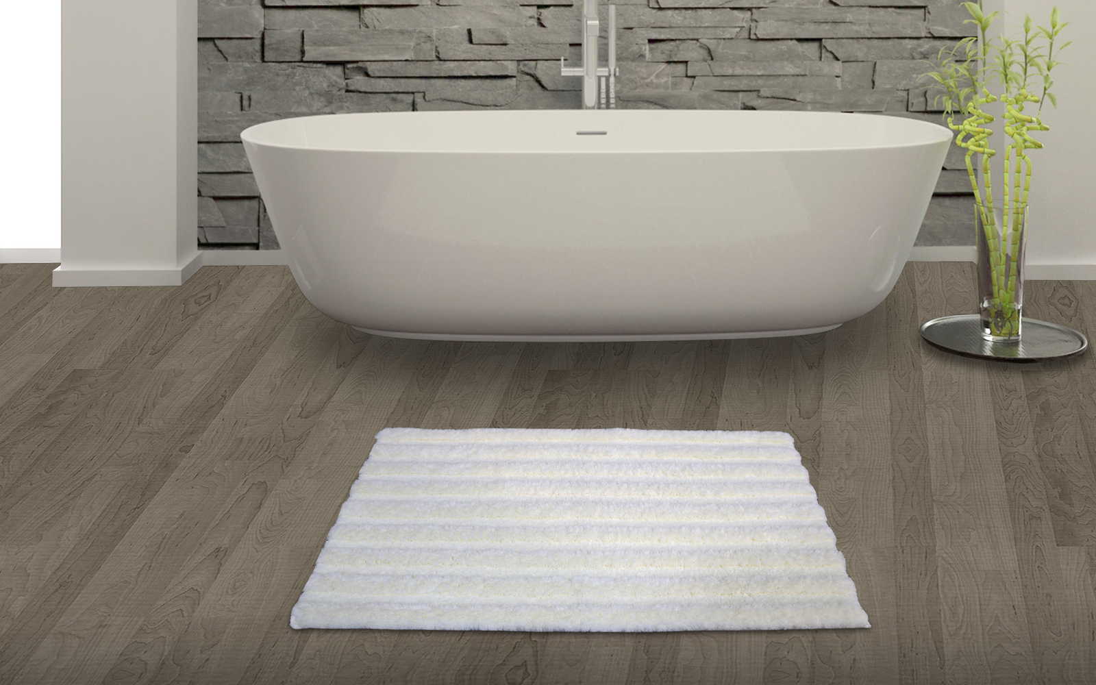 Spaces Swift Dry Pearl Bath - Small Cotton Bath Mats in Multicolour Colour by Spaces