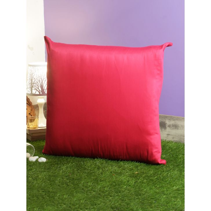 Nora Palette Solid Polyester Cushion Covers in Berry Colour by Living Essence