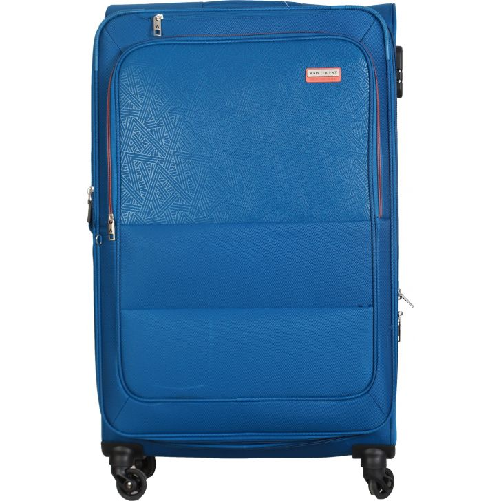 Aristocrat Sorento 4W Expandable Strolly 79 cm Soft Trolley (Blue)