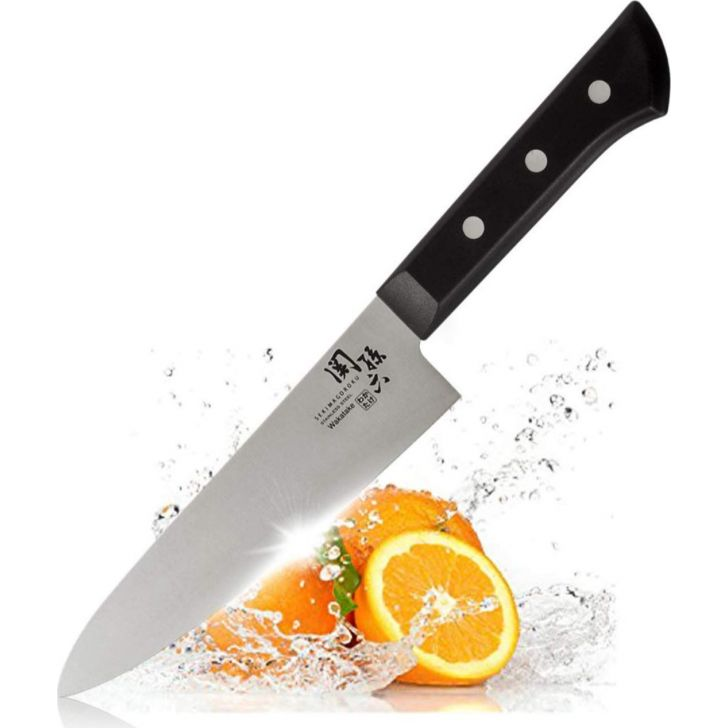 Wakatake Chef Stainless Steel Premium Knife in Black Colour by Kai