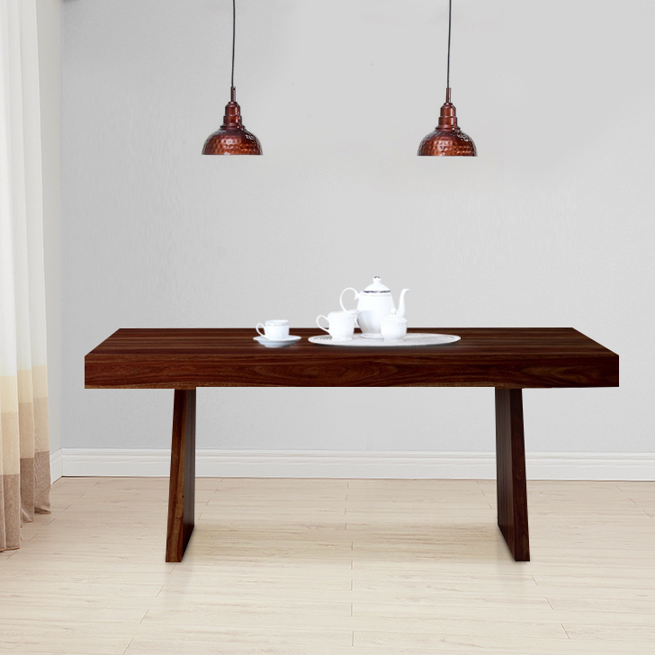 Austin Solid Wood Six Seater Dining Table in Honey Colour by HomeTown