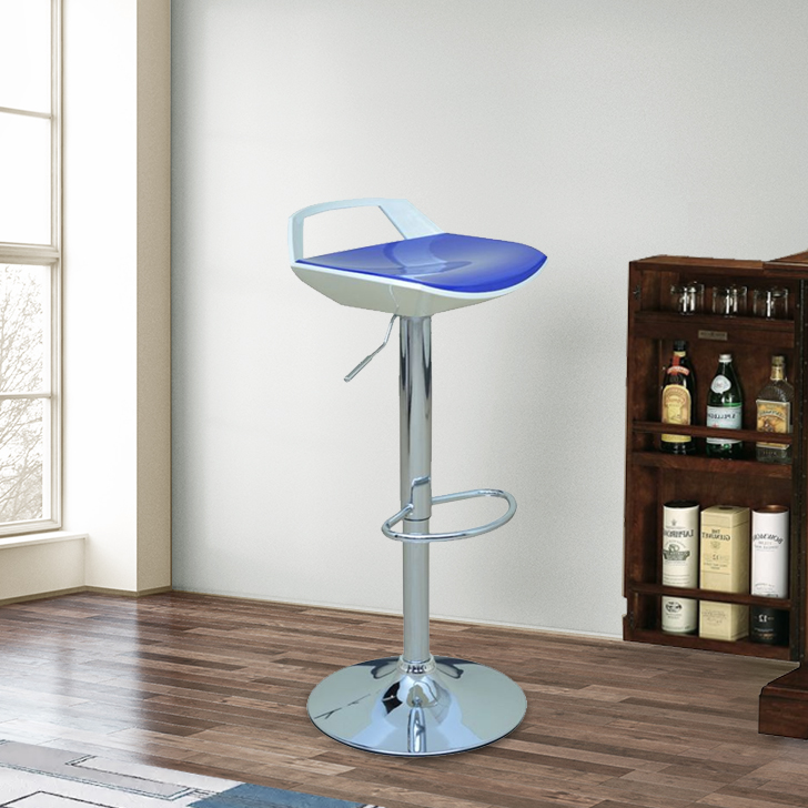 Stella ABS Bar Chair and Stool in Blue & Cream Colour by HomeTown